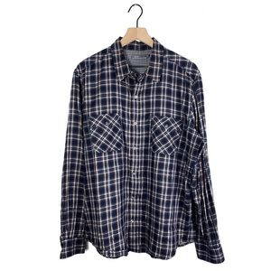 Vince Plaid Long Sleeve Button Up in Watch